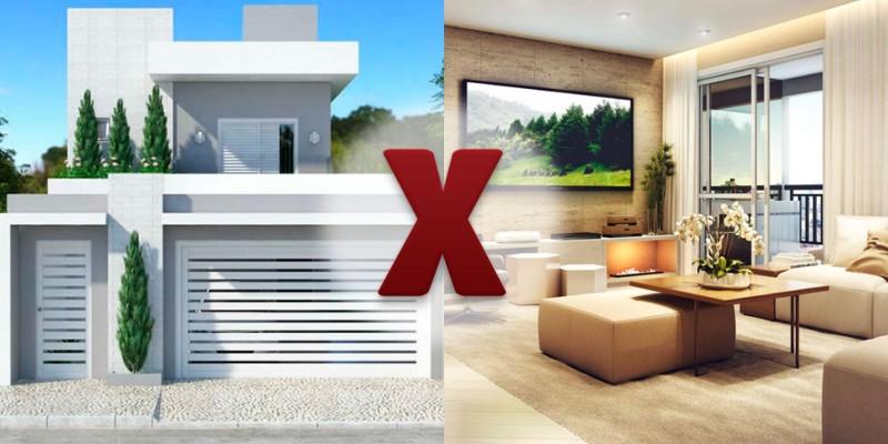 Casa ou apartamento? Conheça as vantagens e desvantagens